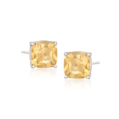 5.75 ct. t.w. Citrine Stud Earrings in Sterling Silver, , default