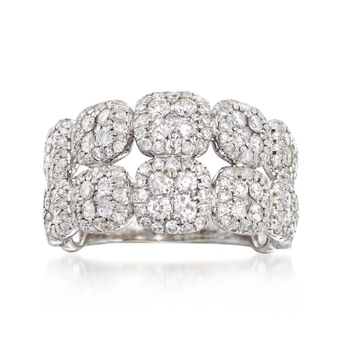 1.50 ct. t.w. Diamond Double Row Ring in 14kt White Gold