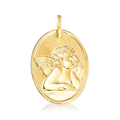 Italian 14kt Yellow Gold Raffaello's Angel  Pendant , , default