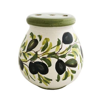 """Abbiamo Tutto Italian """"Classic Olive"""" Ceramic Cheese Shaker, , default"""