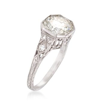 C. 2000 Vintage 2.69 ct. t.w. Diamond Ring in Platinum. Size 6.5, , default