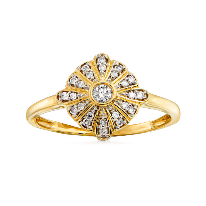 .15 ct. t.w. Diamond Marquise-Shaped Ring in 14kt Yellow Gold, , default