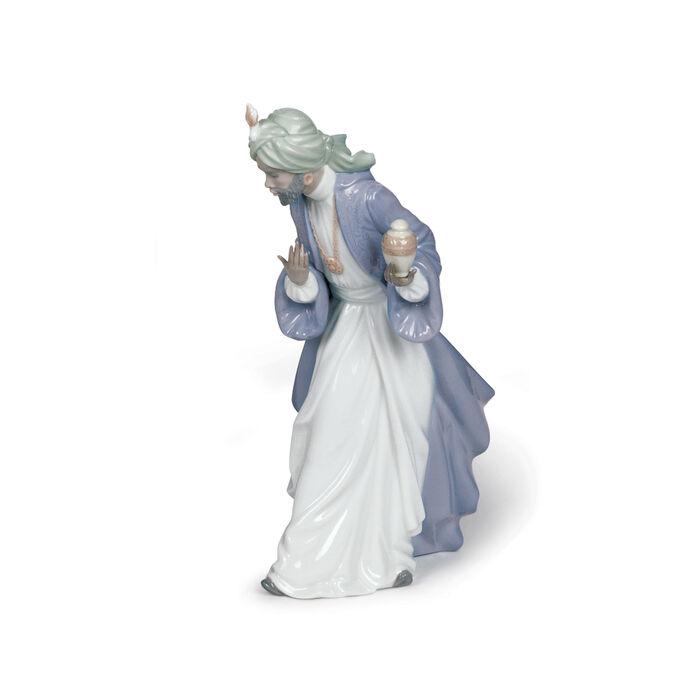 "Nao ""Nativity - King Balthasar with Jug"" Porcelain Figurine, , default"