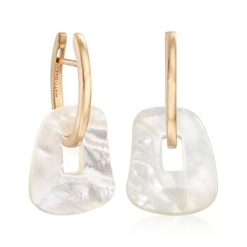 "Mattioli ""Puzzle"" 18kt Yellow Gold Earrings with Three Interchangeable Drops: 18kt Gold and Multi-Stone. 7/8"", , default"