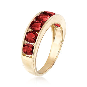 3.10 ct. t.w. Garnet Eternity Band in 14kt Yellow Gold. Size 5, , default