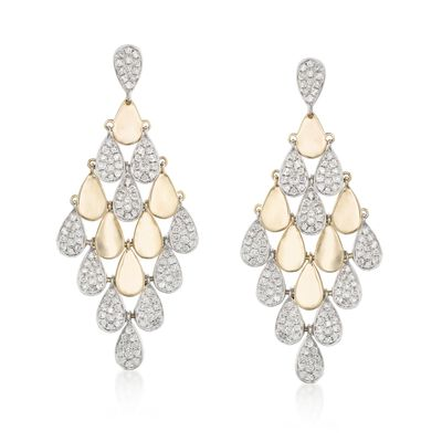 3.00 ct. t.w. Diamond Chandelier Earrings in 18kt Yellow Gold, , default