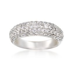 1.35 ct. t.w. Multi-Row Diamond Ring in 14kt White Gold, , default