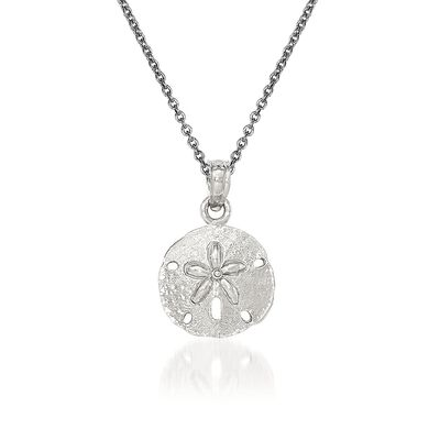 14kt White Gold Sand Dollar Pendant Necklace