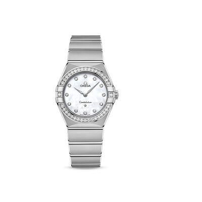 Omega Constellation Women's 28mm Stainless Steel and Diamond Watch