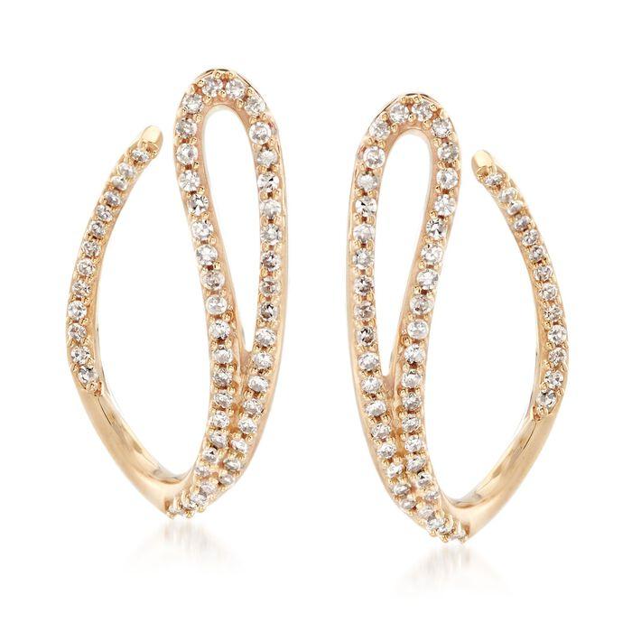 .50 ct. t.w. Diamond Swoop Drop Earrings in 14kt Yellow Gold, , default