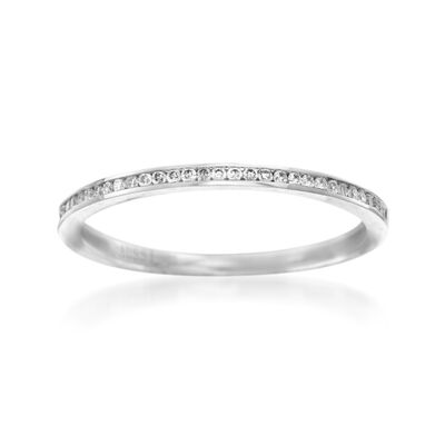 Henri Daussi .10 ct. t.w. Diamond Wedding Ring in 18kt White Gold, , default