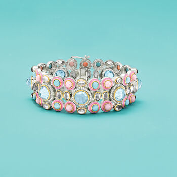 Multi-Gemstone Bracelet in Sterling Silver, , default