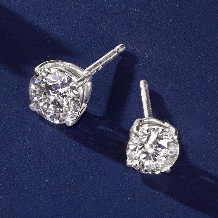 1.00 ct. t.w. Diamond Stud Earrings in 14kt White Gold