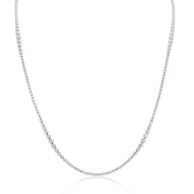 9.65 ct. t.w. Diamond Graduated Tennis Necklace in 18kt White Gold