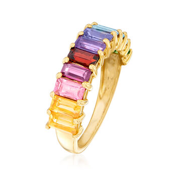 2.00 ct. t.w. Multi-Gemstone Ring in 18kt Gold Over Sterling. Size 7, , default