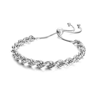 Italian 6mm Sterling Silver Rope Chain Bolo Bracelet, , default