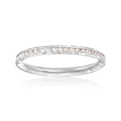 .70 ct. t.w. CZ Ring in 14kt White Gold, , default