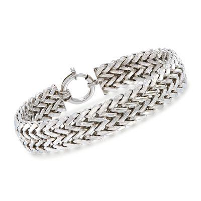 Sterling Silver Chevron Bracelet, , default