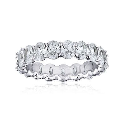 4.08 ct. t.w. Diamond Eternity Wedding Band in Platinum