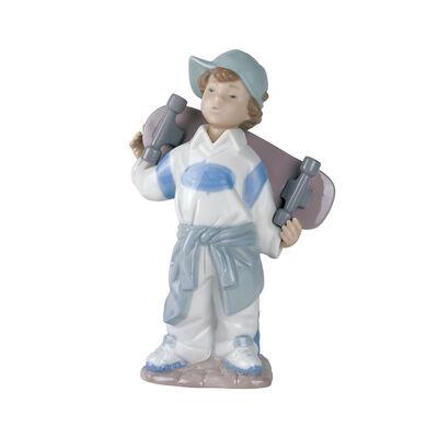 "Nao ""Little Skateboarder"" Porcelain Figurine"