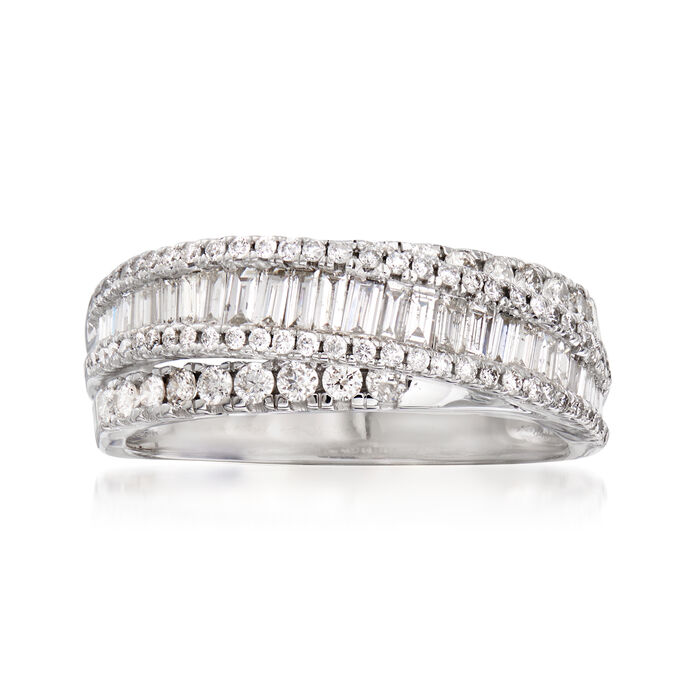 1.26 ct. t.w. Diamond Overlapping Ring in 14kt White Gold