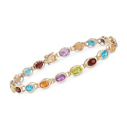 9.30 ct. t.w. Multi-Stone Bracelet in 14kt Yellow Gold, , default