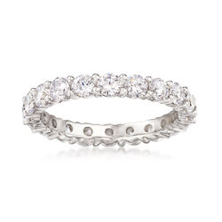 2.00 ct. t.w. CZ Eternity Band Ring in 14kt White Gold, , default