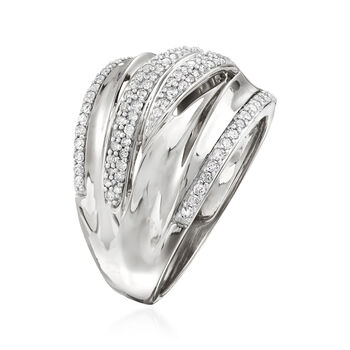 .50 ct. t.w. Pave Diamond Highway Ring in Sterling Silver, , default