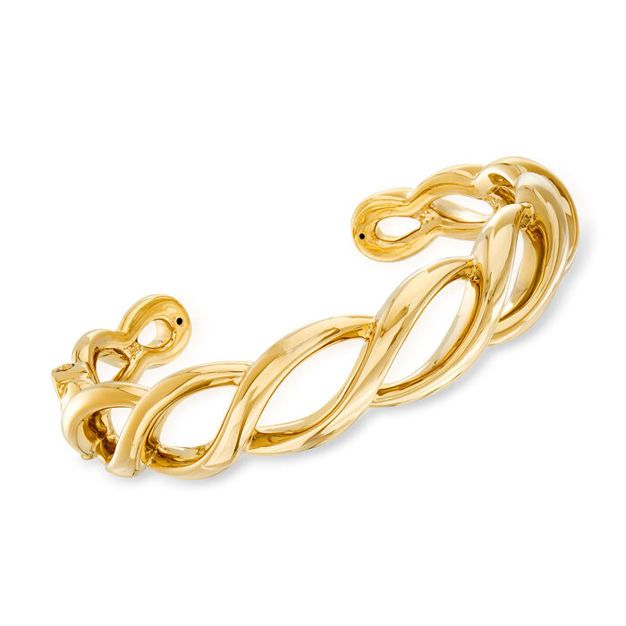14kt Yellow Gold Open-Space Twist Cuff Bracelet