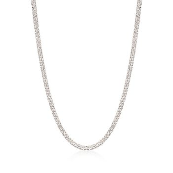 18kt White Gold Three-Strand Rope Chain Necklace, , default
