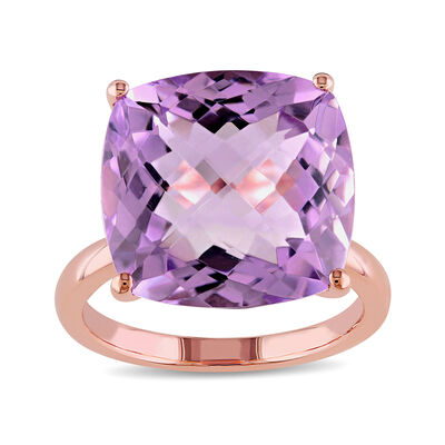 13.00 Carat Amethyst Ring in 14kt Rose Gold, , default