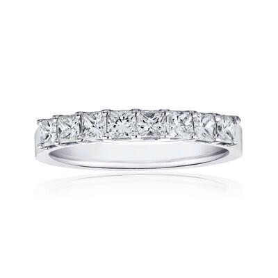 1.20 ct. t.w. Princess-Cut Diamond Ring in 14kt White Gold