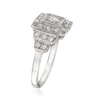 C. 1950 Vintage .55 ct. t.w. Diamond Cluster Ring in Platinum. Size 7.5, , default