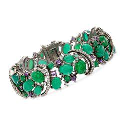 19.60 ct. t.w. Multi-Stone Bracelet in Sterling Silver, , default