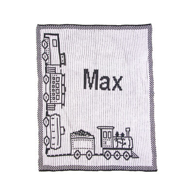Child's Butterscotch Blankees Personalized Choo Choo Train Blanket, , default