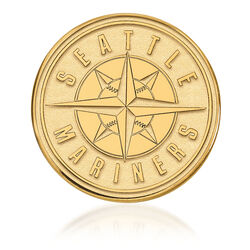 14kt Yellow Gold MLB Seattle Mariners Lapel Pin, , default