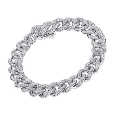 4.00 ct. t.w. Diamond Curb-Link Bracelet in 14kt White Gold