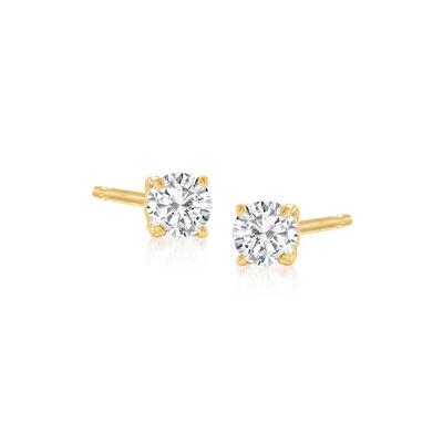 .15 ct. t.w. Diamond Stud Earrings in 14kt Yellow Gold