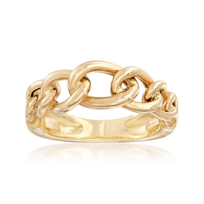 Italian 18kt Yellow Gold Curb-Link Ring, , default