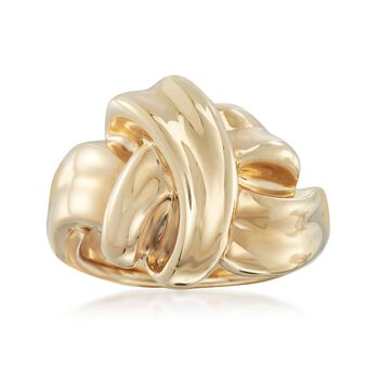 14kt Yellow Gold Twisted Knot Ring in 14kt Yellow Gold. Size 5, , default