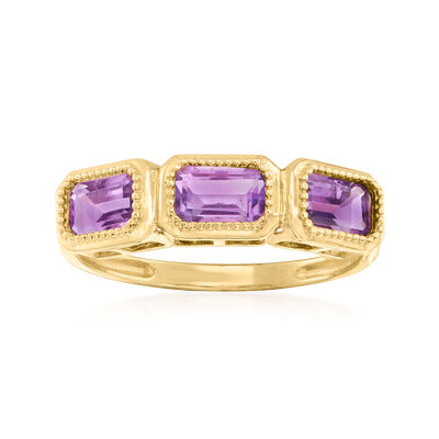 1.60 ct. t.w. Amethyst Ring in 14kt Yellow Gold