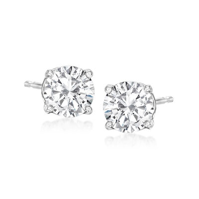 1.25 ct. t.w. Diamond Stud Earrings in 14kt White Gold