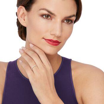 Henri Daussi .50 ct. t.w. Diamond Wedding Ring in 18kt Rose Gold, , default