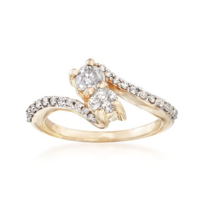 1.00 ct. t.w. Diamond Two-Stone Ring in 14kt Yellow Gold, , default