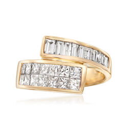 1.88 ct. t.w. Diamond Bypass Ring in 14kt Yellow Gold, , default