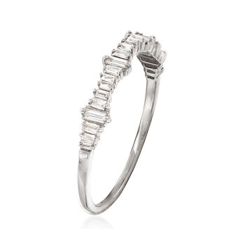 .20 ct. t.w. Baguette Diamond Ring in 14kt White Gold, , default