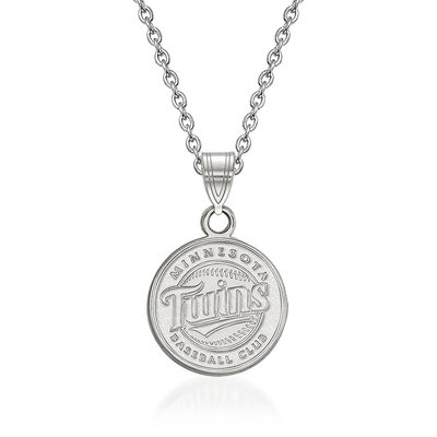 """Sterling Silver MLB Minnesota Twins Pendant Necklace. 18"""""""
