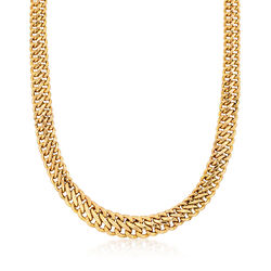 C. 1990 Vintage 14kt Yellow Gold Curb Link Necklace, , default