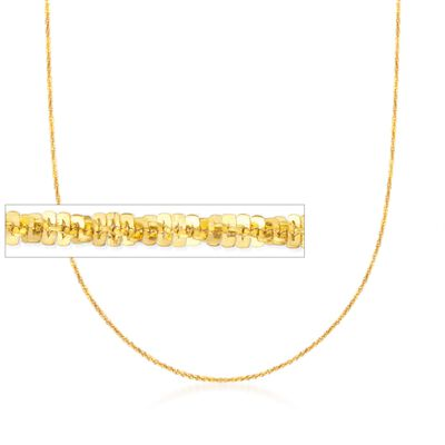 Italian 1.5mm 18kt Gold Over Sterling Adjustable Crisscross Chain Necklace, , default