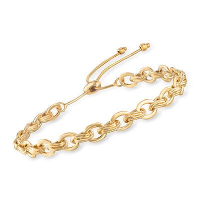14kt Yellow Gold Bolo Bracelet, , default